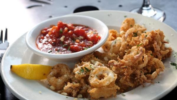 Calamari Fritti at Amici restaurant in Louisville. July 30, 2014.