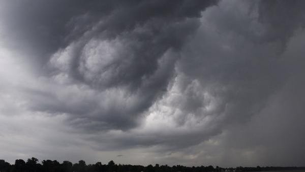 Storm clouds over Greece on Wednesday afternoon.