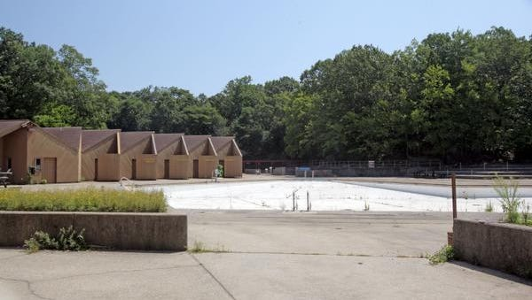 Sprain Ridge Pool is closed to the public in Yonkers Aug. 7, 2014.