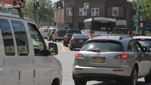 A view of the traffic on Route 9A in Elmsford, photographed Aug. 26, 2014. Greenburgh is renewing a push for a trucking road to ease traffic on Route 9A.