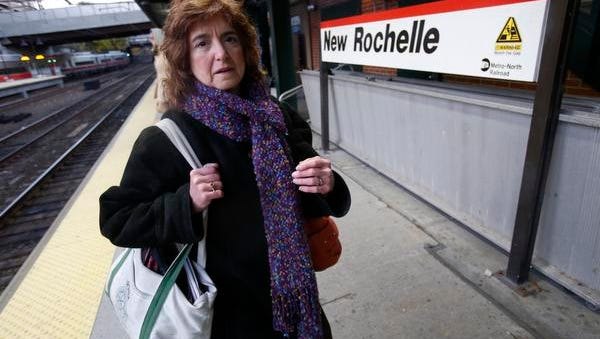 Andrea Rothberg, 61, of New Rochelle, begins her second leg of a four-leg trip at the Metro-North New Rochelle Train Station on Nov. 13, 2014.