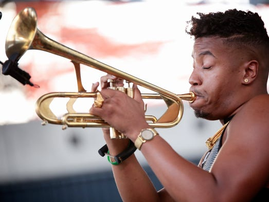 Christian Scott Stretch Music perform during the 36th