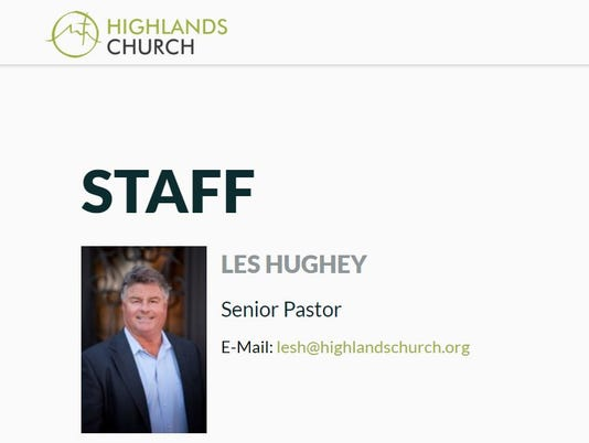 Les Hughey founder of Highlands Community Church