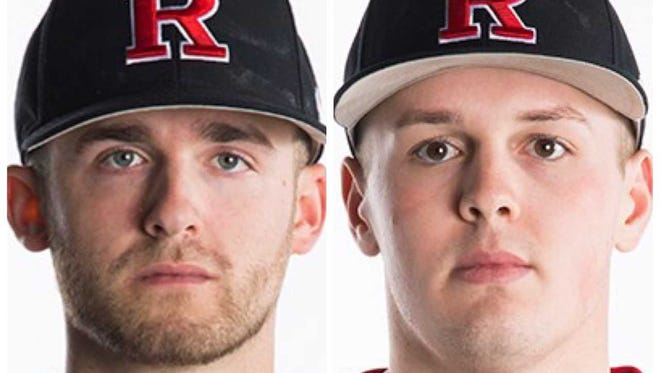 Eric Heatter (left) and Harry Rutkowski pitched Rutgers to victory over No. 24 Miami in their college mound debuts on Sunday
