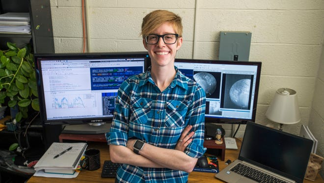 Jodi Berdis, a New Mexico State University graduate student in the Astronomy Department, recently received the prestigious NASA's Aeronautics Scholarship and Advanced STEM Training and Research Fellowship to fund her research on identifying surface ice on other planets.
