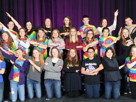 Two Rivers High School has a cooperative peer leadership program with both Koenig and Magee elementary schools. Pictured are: row one, from left, Rochelle Rank, Savannah Stanley, Emilee Rysticken, Hannah Shimanek, McKenzie Kornely, Emily Duvall, Alissa Taylor and Abby Fries; row two, from left, Shalyn Behnke, Aubrey Polich,Ali Rehrauer, Andrea Henrickson, McKenna Meyer, Emma Burby, Rosie Ehle and Diana Henrickson, and row three, from left, Makayla Fidler, Kiley Graff, Brooke Behrendt, Will Schmid, Morgan Haag and Tanner Greenwood.