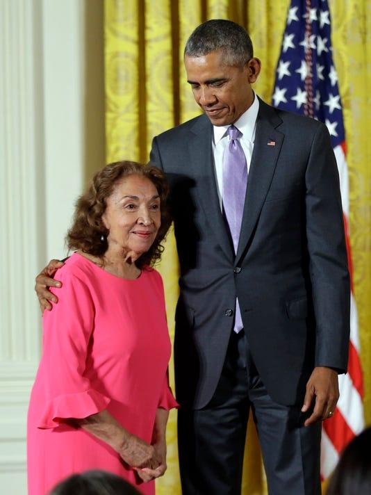 Barack Obama, Miriam Colón.jpg