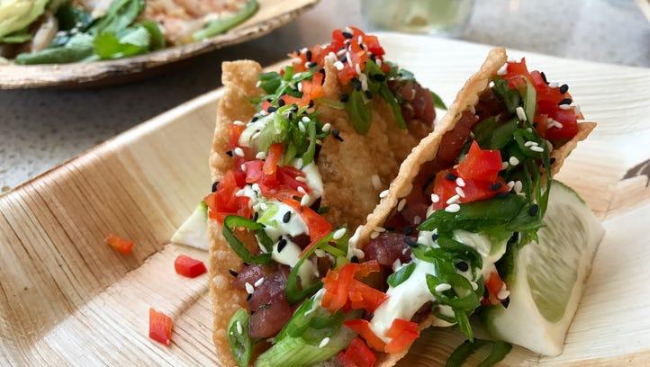Ahi tuna tacos from The Marlin Bar at Tommy Bahama