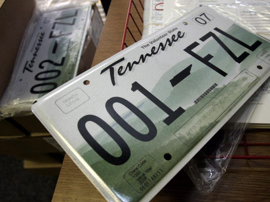 Tennesee License Plate