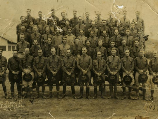 Battery F, 203rd Coast Artillery (anti-aircraft). The 203rd held a reunion in Carthage on Sept. 10, 1964.
