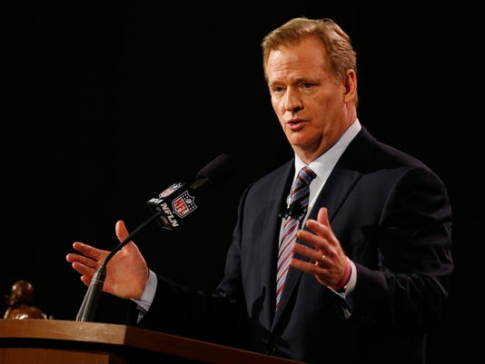 NFL: Super Bowl XLIX-Commissioner Roger Goodell Press Conference