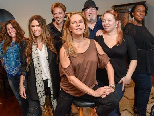 From left are Jilly Sentino, Reagan Richards, songwriter