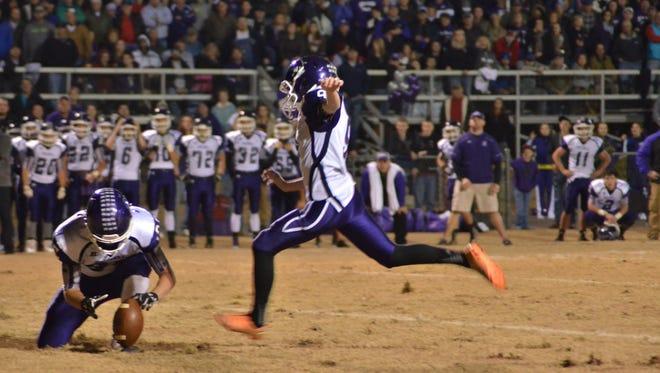Mitchell sophomore kicker Ben Bonner.