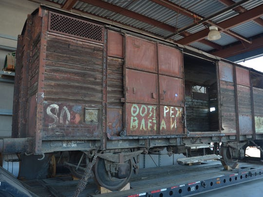 WWII rail car shown at Chandler Holocaust event  Wwii Train Car