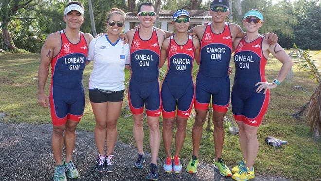 This June 2015 file photo shows the Guam national triathlon team. Members competed at the 2015 Pacific Games in Papua New Guinea. With Tonga having recently decided not to host the 2019 games, Guam, Samoa and Tahiti have expressed interest.