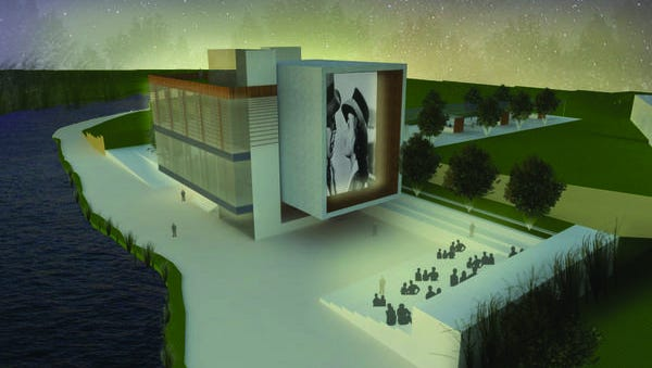 A Riverwalk Art Museum & Community Plaza is one of the major components of the master plan. The project would sit on what is now two small office buildings and a city-owned parking lot.