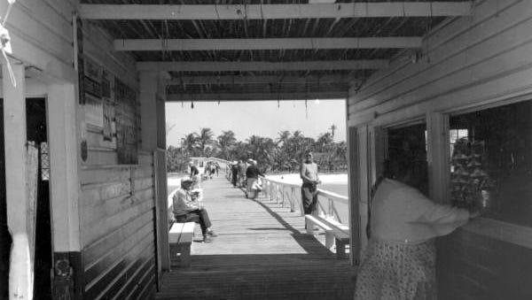 View seen through the store on the pier - Naples, Florida
