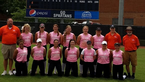 The Region 8 softball team.