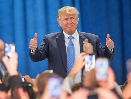 Donald Trump Holds Campaign Rally In Davenport, Iowa