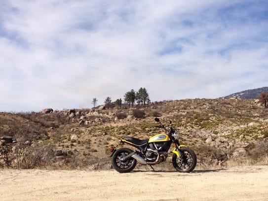The Ducati Scrambler has  semi-knobby tires to handle