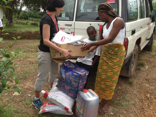 Save the Children aid worker Sonia Khush in Liberia.