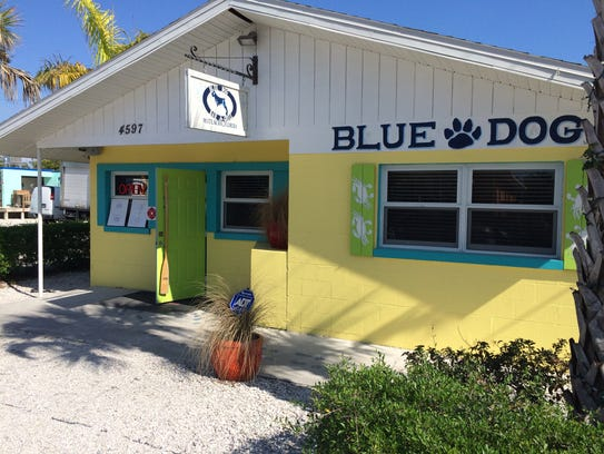 Blue Dog Bar & Grill opened in October 2014 in the former Mulletville space on Matlacha.