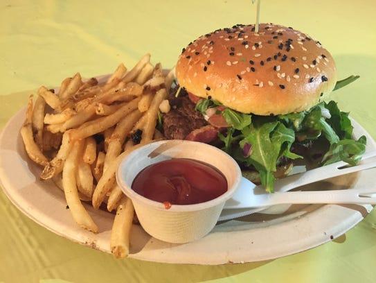 The Fresno Fig Burger from Eureka! at Coachella 2015.
