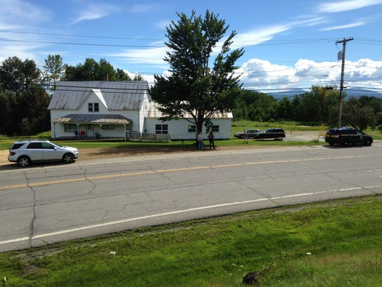 Police investigate at 3182 Airport Road in Berlin Saturday,