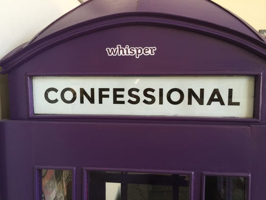 A Whisper-themed phone booth where folks can freely
