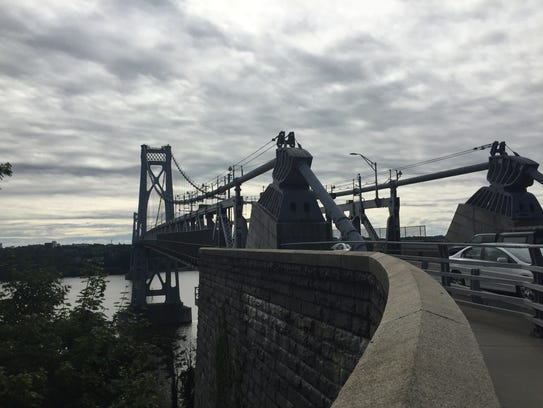 The Mid-Hudson Bridge, looking east from the Town of