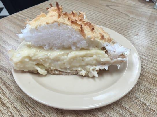 Coconut meringue at Sylvan Park restaurant in Murfreesboro.