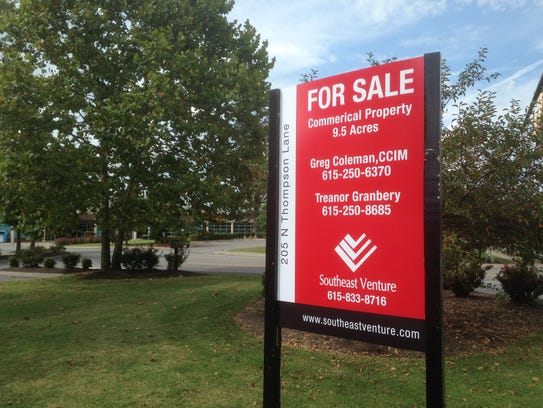 This for sale sign seeks a buyer for the YMCA property