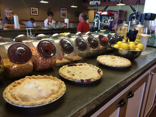 Lynn Marshall's freshly baked pies at The Classic Deli