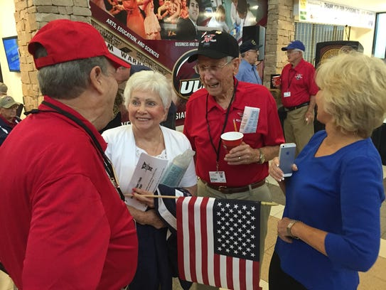 Gathering at Monroe Regional Airport on Thursday morning,