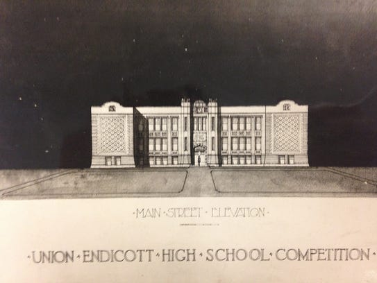 The architect's design for the new school.