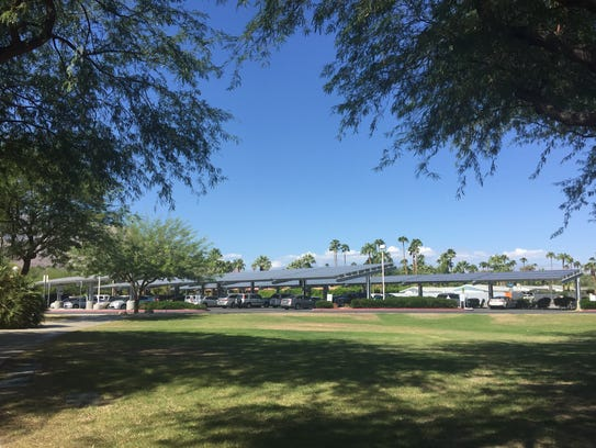 The solar panels at Katherine Finchy were installed