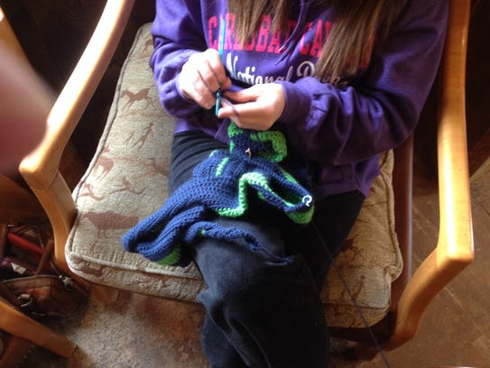 "Jody Glanton likes to crochet because it ""keeps my"