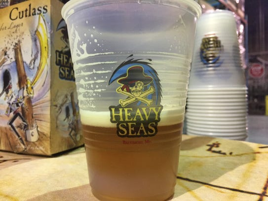 Heavy Seas Cross Bones IPA has a malt base, perfect