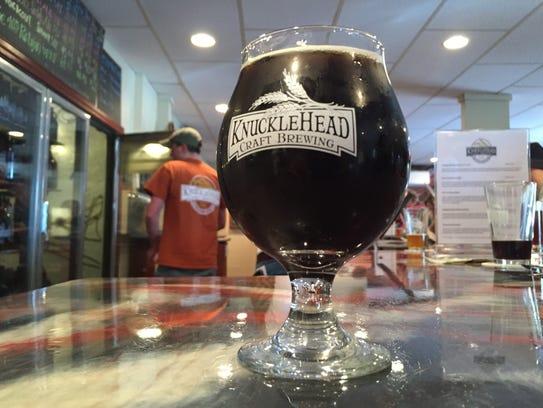 Knucklehead Dark Shadow, a maple vanilla porter.