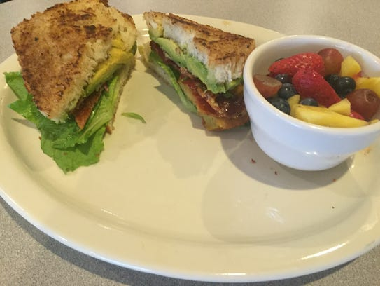 The BLTA features fried-green tomatoes and freshly