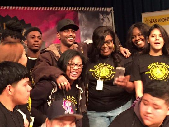 Students gather with Big Sean at Saturday's Mogul Prep