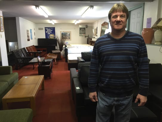 Todd Myers, owner of Myers New & Used Furniture, has