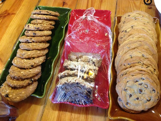 A selection of baked goods awaits the last customers