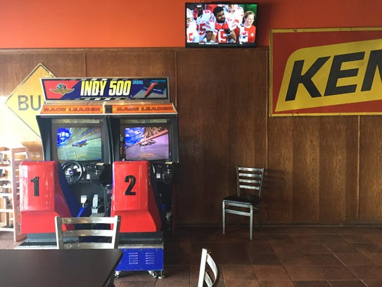 Game room at Burger Daddy.