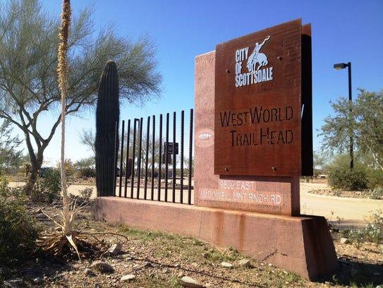 WestWorld Trailhead in Scottsdale.