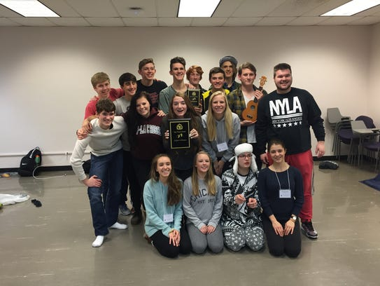 Members of the Plymouth High School one-act cast who