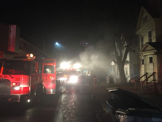 Crews battled a fire Sunday night at 313 W. Gray St.