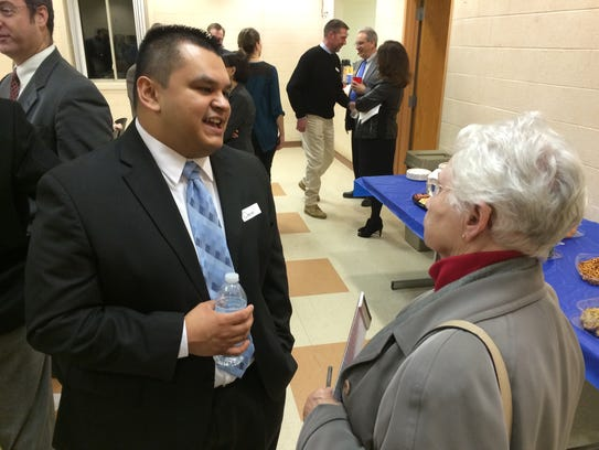 Brighton resident Joyce Powers meets city manager finalist