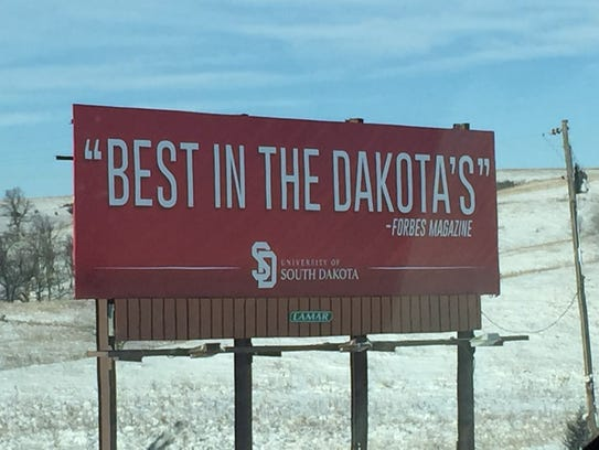USD's new billboard received much attention on social