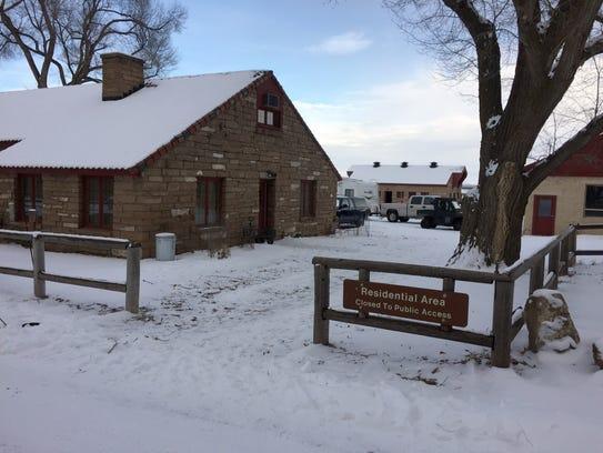 Buildings at the Malheur National Wildlife Refuge.